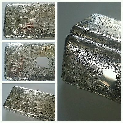 Museum Quality Antique Sterling Silver Cigar Case, Rawlings & Summers,incredible