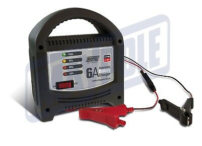 Maypole 6A 6 Amp 12V Up To 1800cc Car Van Motorcycle Boat Battery Charger #7106