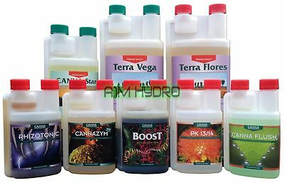 Canna Terra Vega Flores Complete Soil Nutrients Additives Grow Kit Hydroponics