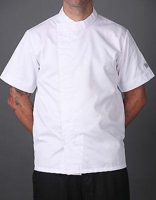 Chef Jacket Lightweight, New Modern Style, Short/ Long Sleeve, Black/white