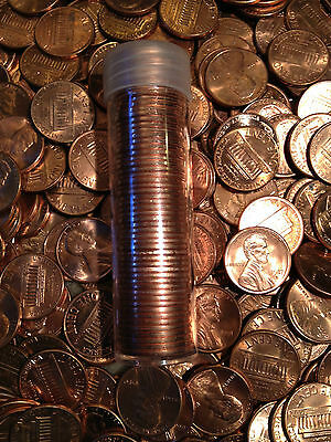 50x BU Memorial Lincoln Head Cent UNC Penny 1959-2015 Copper Roll One P D S Mint