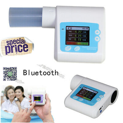 Digital Spirometer PEF FEFV1 FEF Lung Volume Device with cellphone app,CMSSP10BT