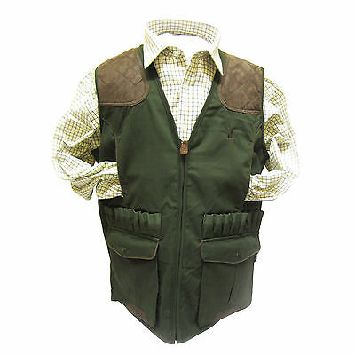 Percussion 1215 Shooting Hunting Waistcoat Vest Green or Brown
