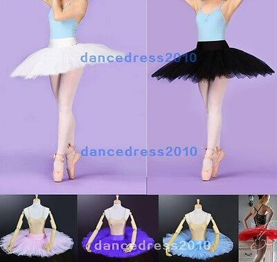 NWT Adult Ladies Ballet Platter Hard Organdy Tutu Skirt Dance Costume Dress 6Col