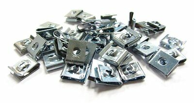 25x 2.9mm Federmuttern Blechmuttern U-nuts Snap speed clips fasteners M3mm Size4