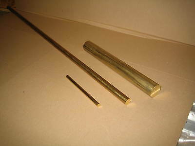 "Brass Round Bar / Rod CZ121 3/8"", 1/2"", 5/8"", 3/4"", 1"" dia Various lengths"