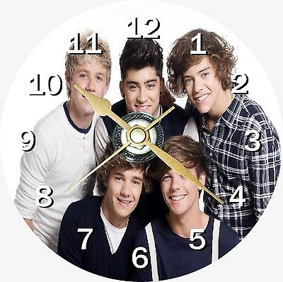 One Direction 3 Novelty Cd Clock Can be personalised