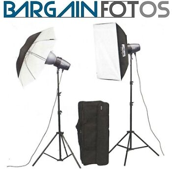 Kit Flashes de estudio Mecastudio BL-200 SB-Kit II-ENVIO GRATIS