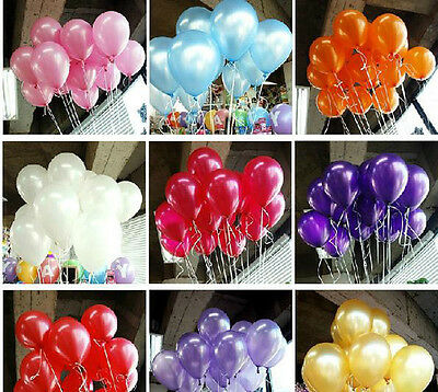 "24 96 288 Wedding 12"" Latex Colors Balloon Birthday Prom Party Decoration Floral"