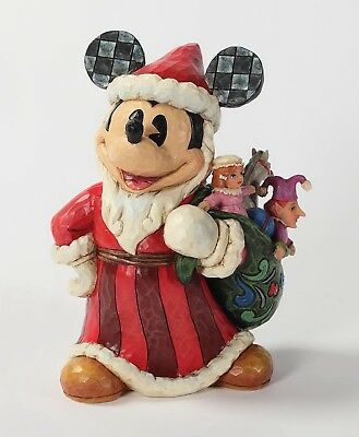 "DISNEY TRADITIONS - ""Mickey Mouse - Old Santa"" - schöne Jim Shore Figur 4027922"