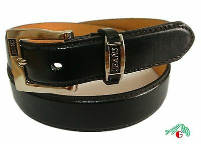 Men DRESS/ CASUAL LEATHER BELT BLACK  S / M / L / XL $5.95 Free Shipping