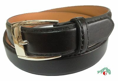BOYS DRESS  LEATHER BELT BLACK  S / M / L / XL $5.99 Free Shipping