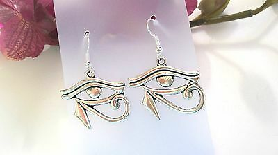 Handmade Tibetan Silver Eye Of Ra, Horace, Horus, Ancient Egypt Earrings