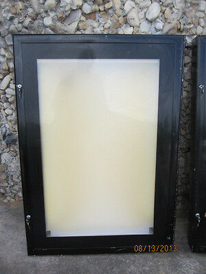 Schult Black Movie Theater illuminated one sheet poster Case!