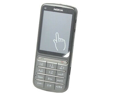 Nokia C Series C3-01 - Warm gray (Unlocked) WIFI Cellular Phone  Free Shipping