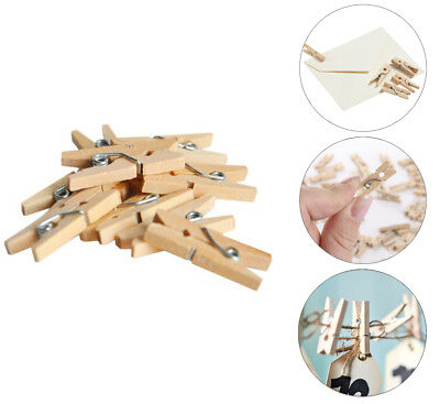 "200 Natural Mini 1"" inch  Wooden Spring Clothespins Crafts Wedding Decorations"