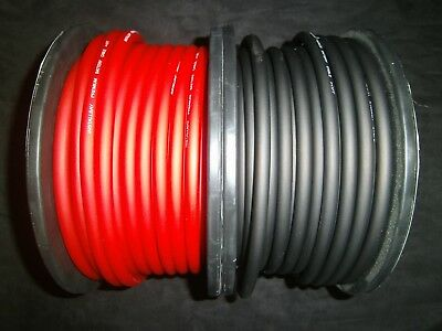 6 GAUGE AWG WIRE CABLE 30 FT 15 BLACK 15 RED POWER GROUND STRANDED PRIMARY
