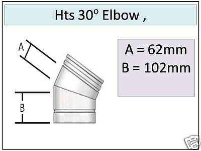 """Midtherm  HTS 1000mm  6/"""" DIRECT TO STOVE 150mm insulated flue pipe HT-S"""