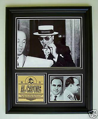 Al Capone Scarface framed photo display w engraving