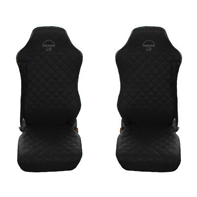 MAN TGA , TGL , TGM , TGS , TGX  Truck Seat Covers 2 pieces (1+1) BLACK
