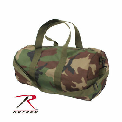 Rothco US Military Army USMC Woodland Forest Camo Gym Shoulder Duffle Field Bag