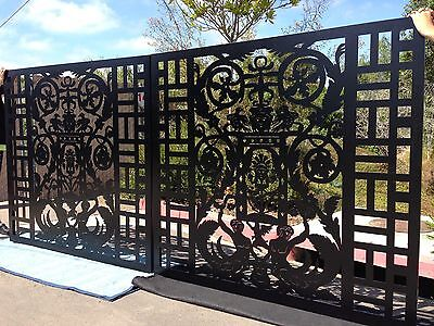 DRIVEWAY GATE METAL ART ITALIAN GARDEN WROUGHT IRON STEEL MADE IN USA 12 FT