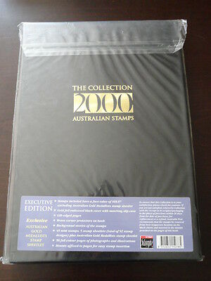 2000 Australia Post Year Album Brand New - Executive Edition With Stamps