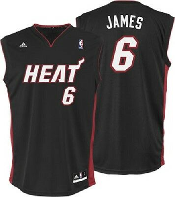 NBA Basketball Trikot Jersey Revolution30 MIAMI HEAT Lebron James 6 black