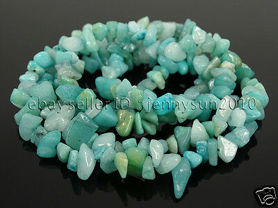 Natural Amazonite Gemstone 5-8mm Chip Beads 35'' For Bracelet or Necklace Making
