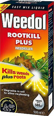Weedol Rootkill Plus 500 ml Liquid Concentrate Weed Kil
