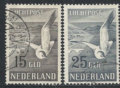 Netherlands 1951 NVPH Airmail 12-13  CANC  VF