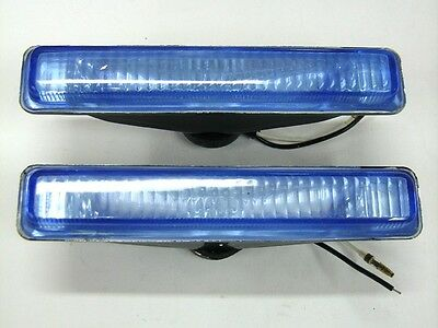 Set Of 2 Universal Blue Car Van Spot Fog Lamps Lights H3 12v 55w