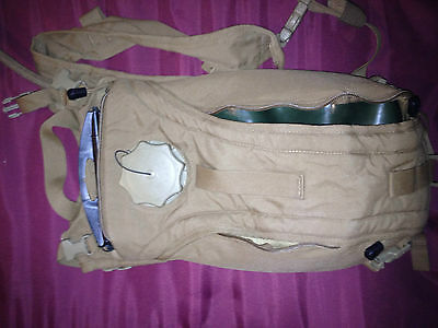 USMC Tactical 3L Hydration Carrier Brown with Tactical Source 3L 100 oz Bladder