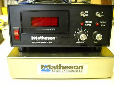 Matheson Gas Electronic Cylinder Scale 8550A 8550 Very Good Condition!