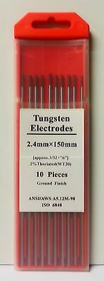 10 x 2.4mm Tig Welding Tungsten Electrodes (Red, Gold, White & Grey available)