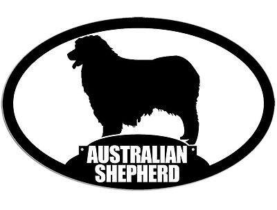 3x5 inch Oval AUSTRALIAN SHEPHERD Sticker - decal dog breed pet animal aussie