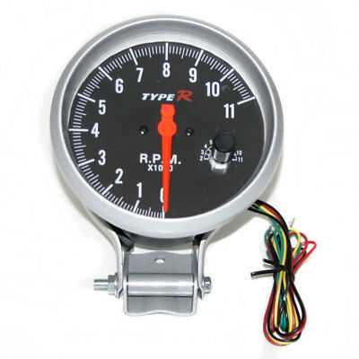 Tachometer Tacho Gauge Rev Counter 5'' Shift Light Rpm Black Front