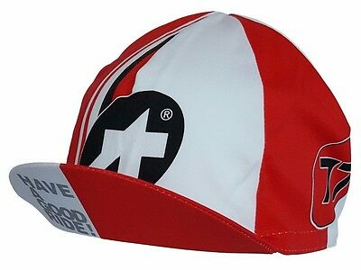 Cycling Cap Summer ASSOS Red / White Made In Italy 100% Cotton