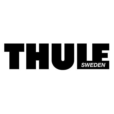 Thule Roof Box Logo Raised Soft Feel Graphic Decal Sticker Badge SINGLE BLACK