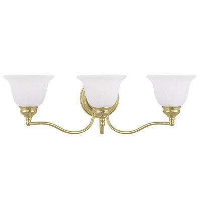 Essex 3 L Livex Polished Brass Bathroom Vanity Lighting Discount Fixture 1353-02