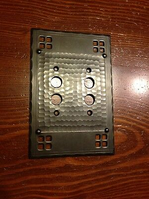 Arts and Crafts Double Push Button Mission Switch Bronze Plate