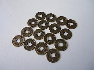 25 Pcs Chinese  Feng Shui Fortune Auspicious Coins/I Ching/ 14mm Charms(FS-CO24)