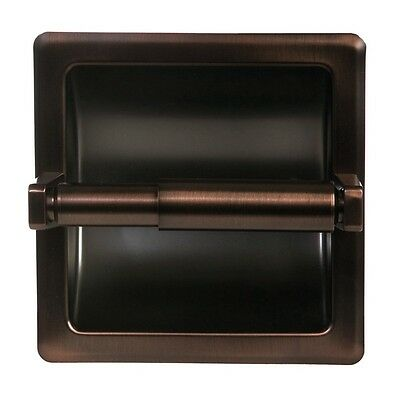 Oil Rubbed Bronze Bathroom Mounted Recessed Toilet Paper Holder Bath Accessory