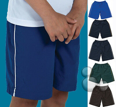 Kids Sports Shorts Size 4 6 8 10 12 14 Contrast Colours Running New!