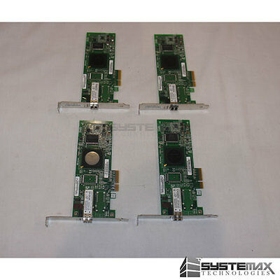 4x HP FC1142SR 4Gb 1-Port PCIe Fibre Channel Host Bus Adapter AE311A