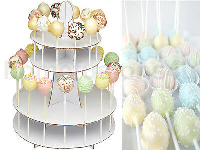 New 2 Tier Cake Pop Display Stand White Cardboard Holder Party Table Decorating