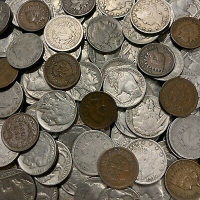 ✯Old US Coin Estate Lot ✯ Buffalo V Liberty Nickels ✯ Indian Penny Cents Iconic✯