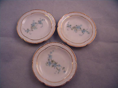 Antique Set Of 3 Butter Pats  Z.s. & Co.  Bavaria Germany
