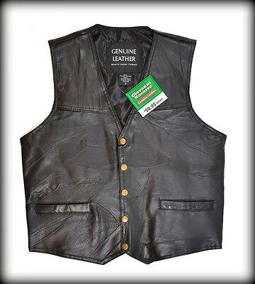 Leather vest jacket for country biker ! Big Size S ~ 7XL ! NEW and best price !