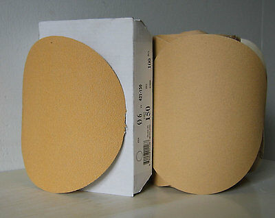 "Premium Gold 5"" PSA Sticky Back Self Adhesive Sanding Discs Roll 150 Grit NEW"